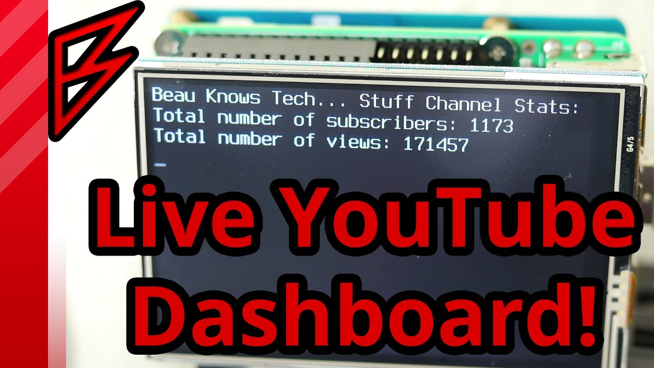 Live YouTube Subsciber Dashboard on Raspberry Pi using python