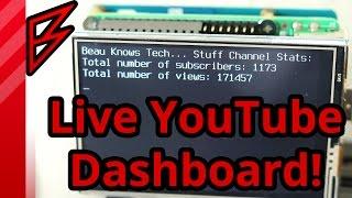 Live YouTube Subsciber Dashboard on Raspberry Pi using python