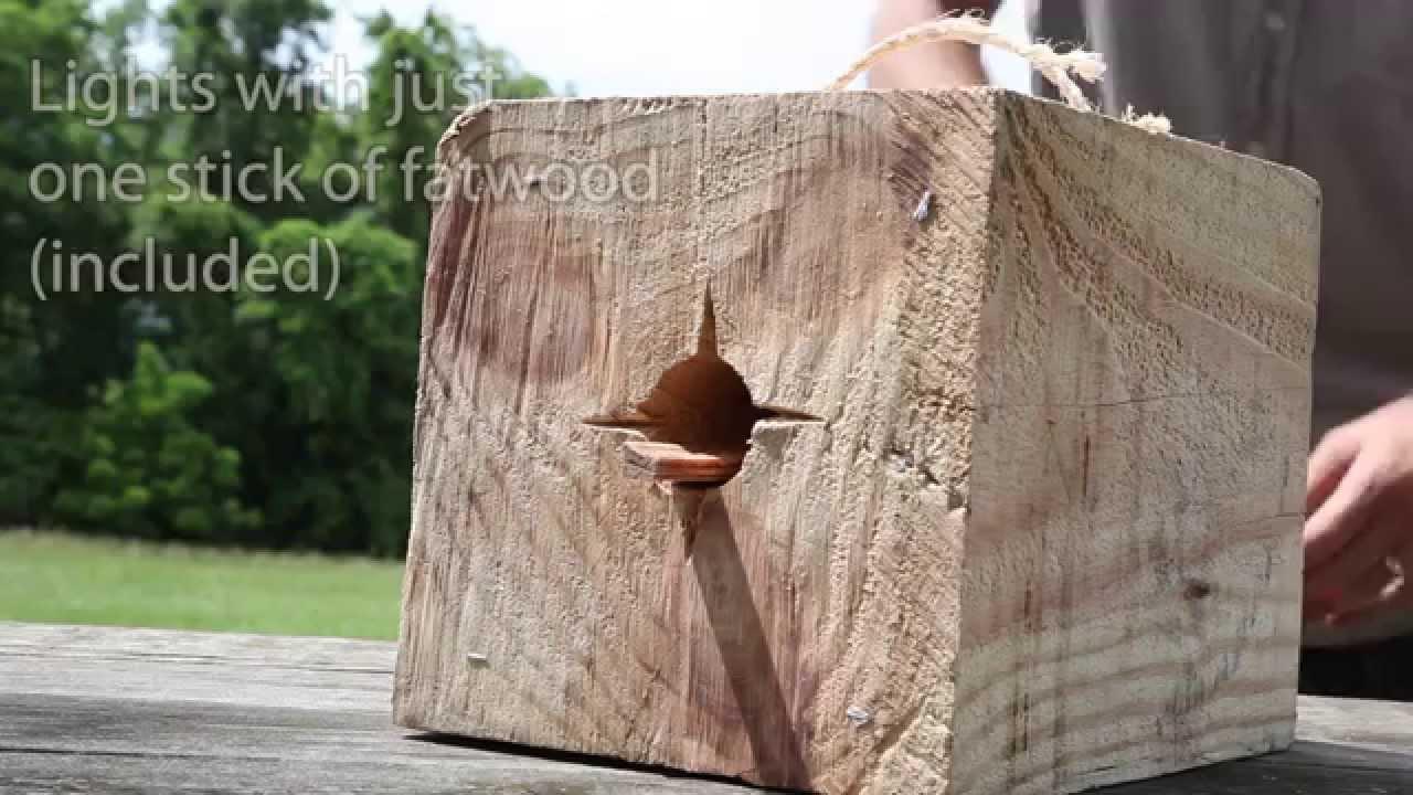 BlazingBlock Portable Outdoor Wood Bonfire SKU# 11421   YouTube