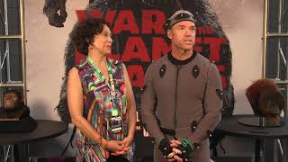 Video War for the Planet of the Apes - NYCC Interview with Karin Konoval (Maurice) & Terry Notary (Rocket) download MP3, 3GP, MP4, WEBM, AVI, FLV Januari 2018