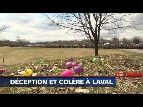 """La chasse aux oeufs """"Cocothon"""" devient une quasi-émeute à Laval."""