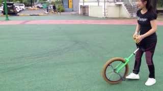 외발자전거 unicycle 대구팔공클럽 5/19 김순희님 여유로운 20수직타기&주행