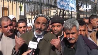 عمال بلدية الجلفة يحتجون و يدخلون في اضراب  El Bilad TV