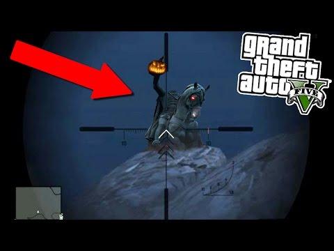 """GTA 5 I found The Headless Horseman! """"Extremely Scary"""" (GTA 5)"""