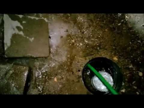 De-Icing An Underground Downspout Drain In Winter