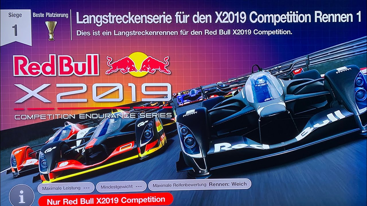 GT Sport Langstreckenliga - Red Bull X2019 Competition Endurance Series