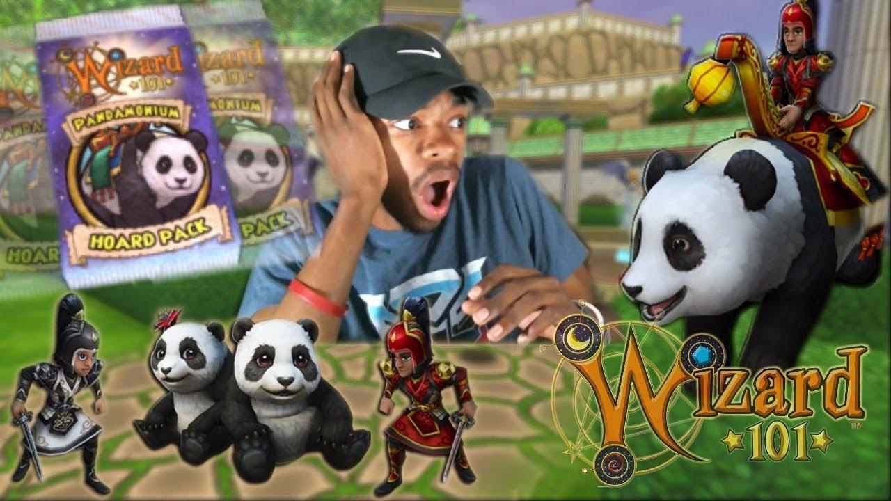 Wizard101: I NEED THIS MOUNT! (Pandamonium Hoard Pack Opening)
