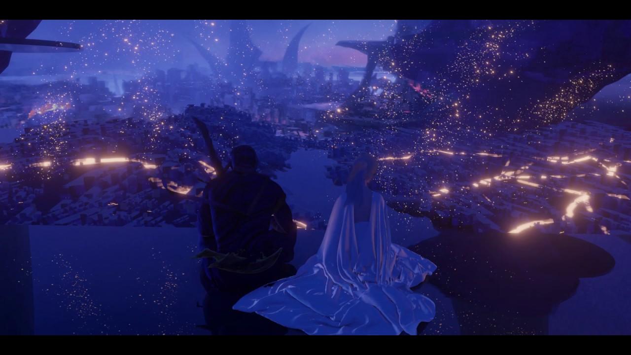 Waterlight City 3D Scene Demo