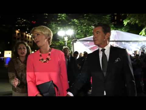 The Love Punch: Pierce Brosnan & Emma Thompson arrive at TIFF premiere