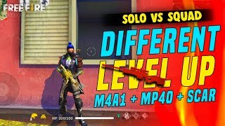 Different Level Up One vs Four Gameplay - Garena Free Fire- Total Gaming