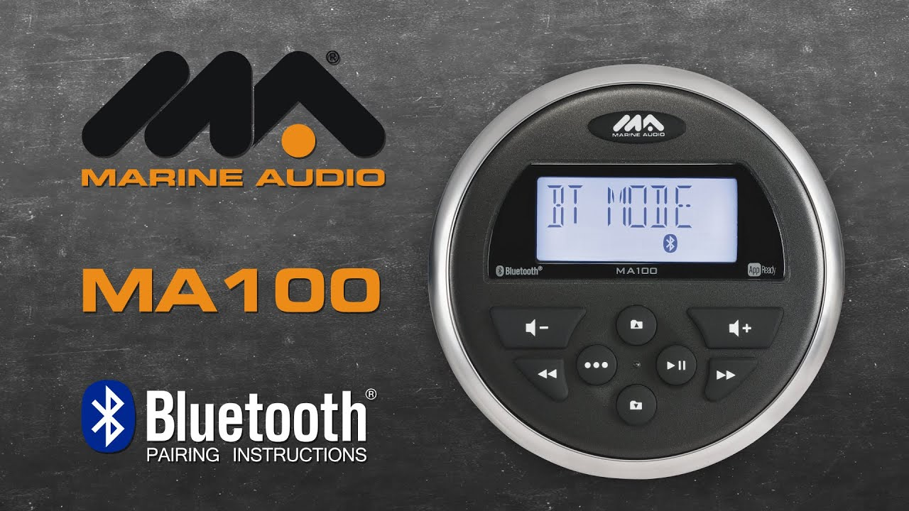 Marine audio ma100 bluetooth pairing instructions youtube sciox Choice Image