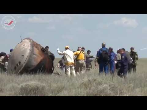 Возвращение «Агата». Видео посадки ТПК «Союз ТМА-19М»