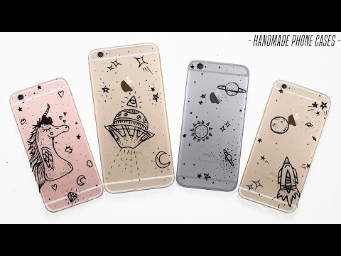 DIY💎MAKING iPHONE 6 × 6 PLUS CASES - ETSY iPhone 7 and 7 PLUS// DIY Phone Cases Covers Doodle Art