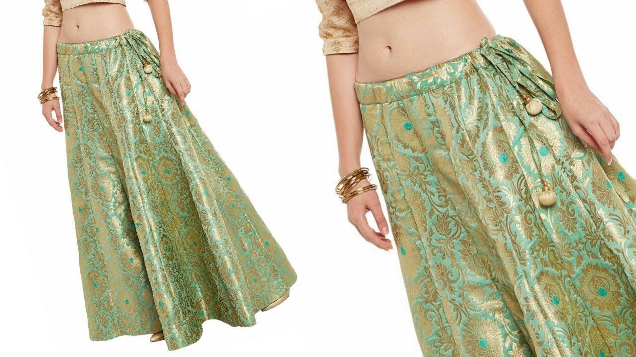 a1d7959954 Very beautiful anarkali lehnga cutting and stitching/kalidaar skirt ...
