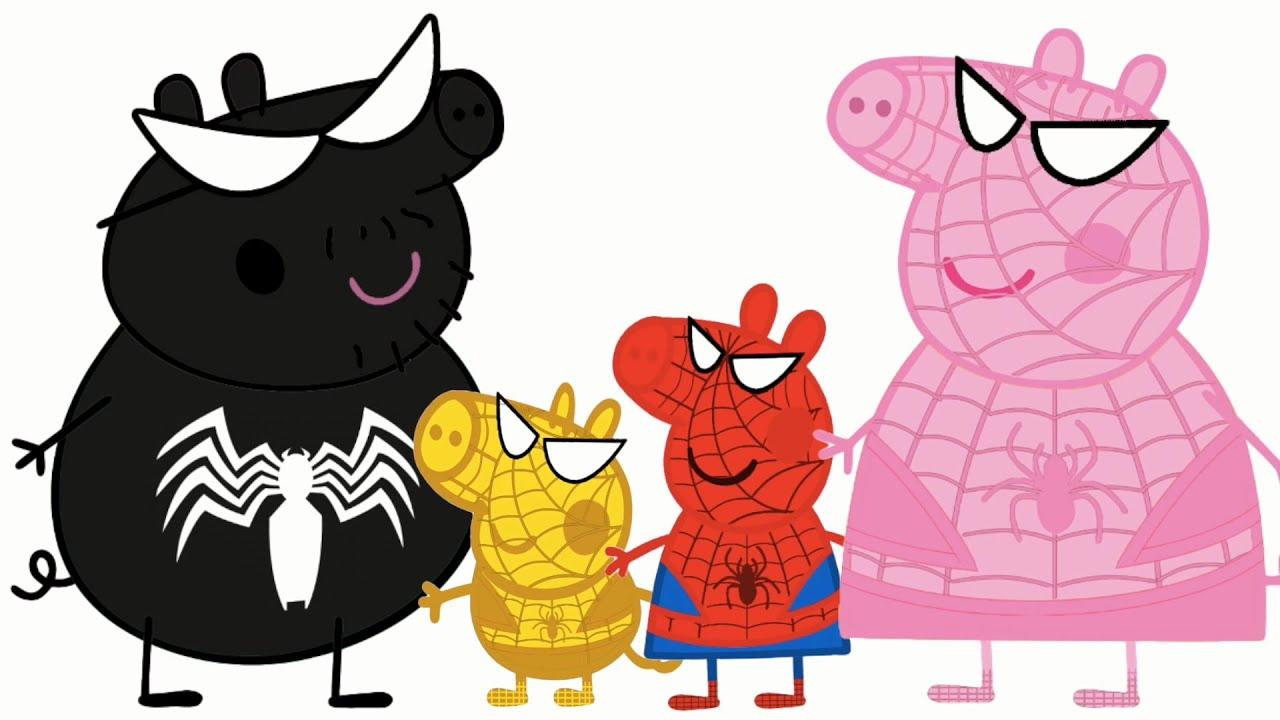 Свинка Пеппа Спайдер Мен и вся семья Spider Man 2016 - YouTube