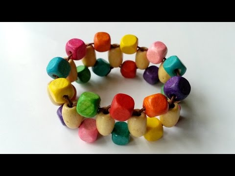 Create Colorful Wooden Beaded Bracelets - DIY Style - Guidecentral