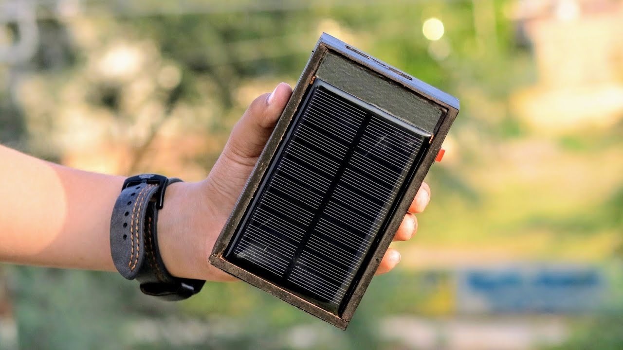 How to Make a Solar Powered Power Bank - 10000mah