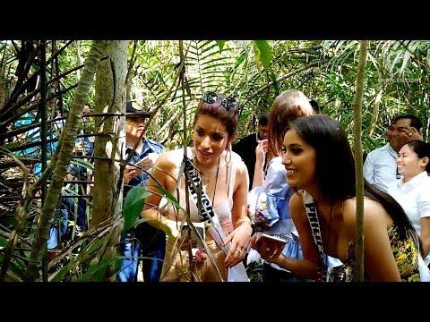Miss Universe 2017 candidates visit Philippine Tarsier Sanctuary