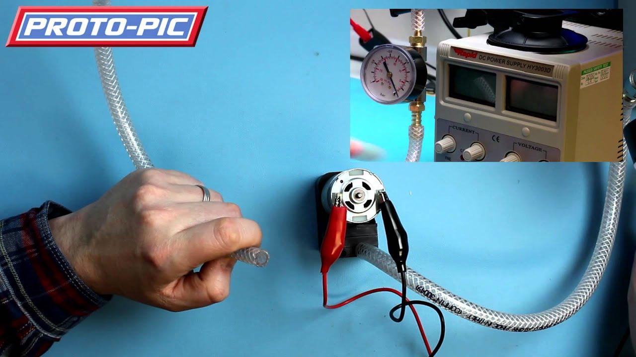 12v Vacuum Pump Youtube Electric Wiring Diagram