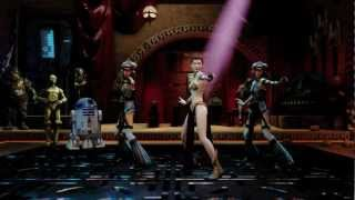 "Kinect Star Wars Dance ""Hologram Girl"" featuring Princess Leia"