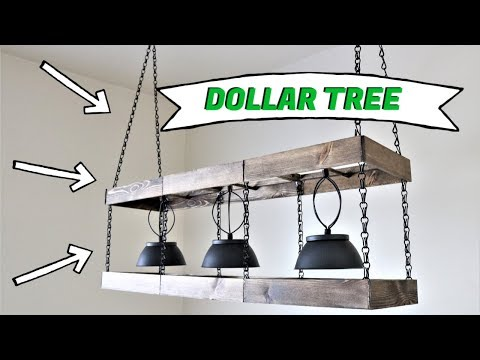 Dollar Tree DIY Farmhouse Chandelier [2019]