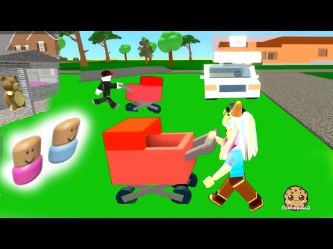 Baby Stroller Crazy – Roblox Let's Play Adopt and Raise a Cute Kid and Cube Eat Cube
