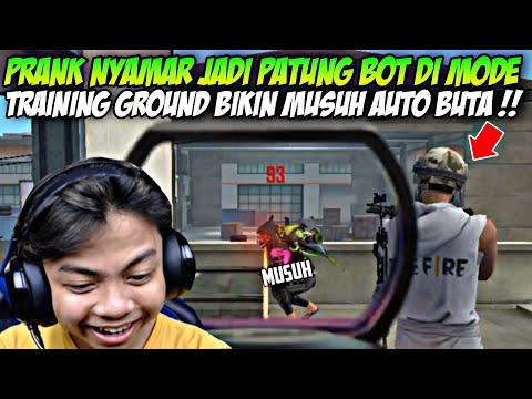 PRANK NYAMAR JADI PATUNG BOT DI MODE TRAINING GROUND !! APAKAH BISA ??