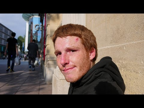 Young Homeless Man Shares Real Truth About Sleeping Rough in Cardiff, Wales.