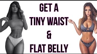 How To Get A Tiny Waist and Flat Belly | 4 Workouts For SEXY Barbie Waistline!