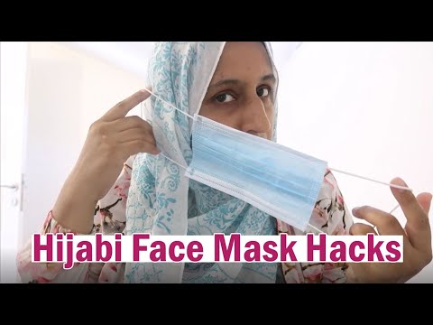 Hijabi Face Mask Hacks | DIY Face Mask Tutorial (Hijab Friendly) | Shamsa