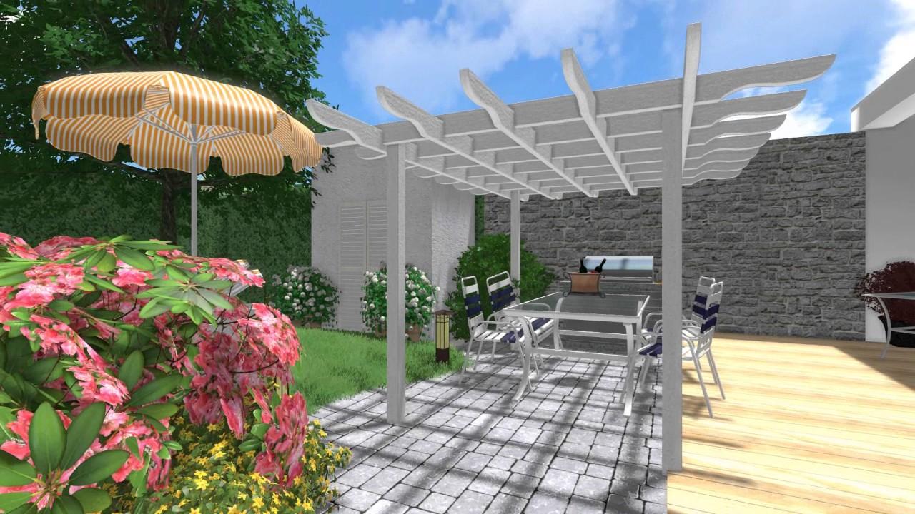 Molto Il progetto di un piccolo giardino - animazione fotorealistica 3D  DI09