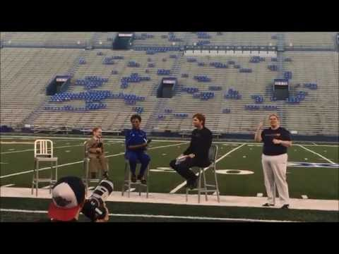 Harrison's Guest Appearance as Little Naismith at KU's Traditions Night 2016