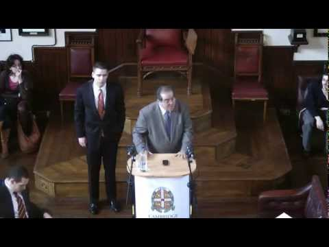 Justice Antonin Scalia | The Cambridge Union