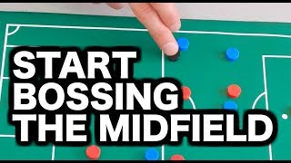 How to play midfield in soccer | 3 tips to become a better midfielder in football