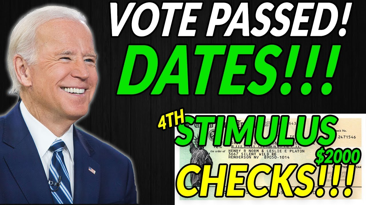 VOTE PASSED! Fourth Stimulus Check Update TIMELINE & DATES & Infrastructure Package - The Daily Show