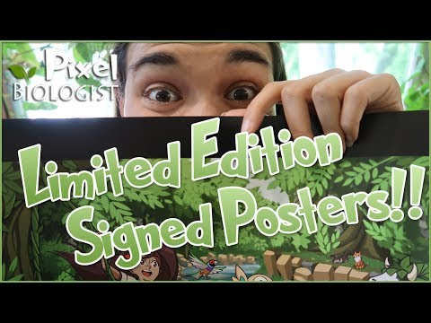 🌿 LIMITED EDITION Signed Posters!! 🌿 Pixel Biology Updates