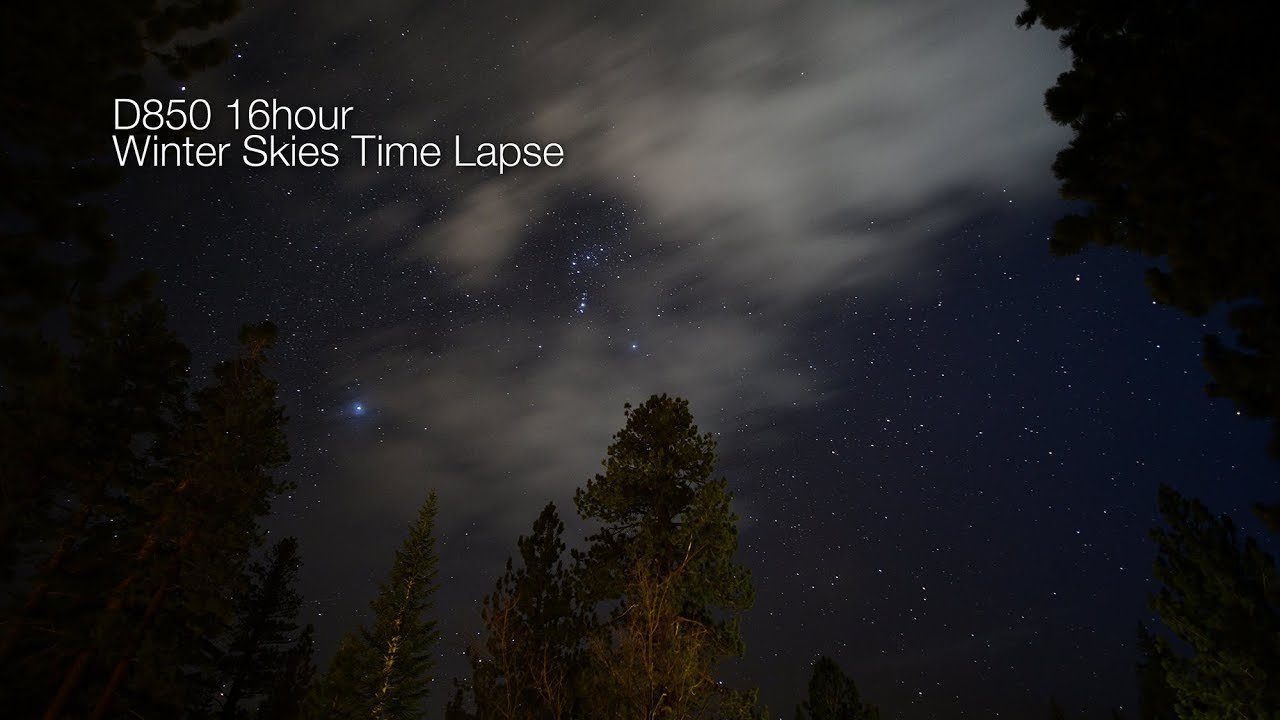 D850 Winter Skies Time Lapse | Moose Peterson's Website