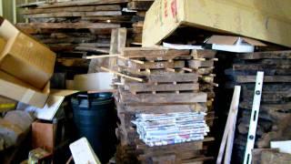 California Fruitwoods Shop Walkthrough - 8/9/2011 - Buckeye And Walnut Burl Electruic Guitar Tops