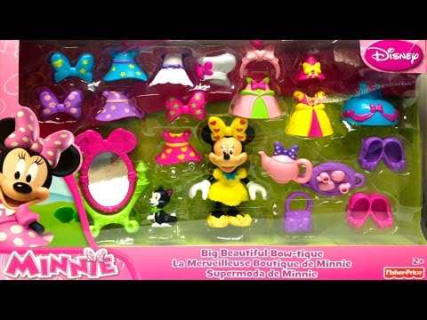 Thumbnail: Play Doh Minnie Mouse Big Beautiful Bow-tique Playset Fisher Price Toys Minnie Doll Disney Junior