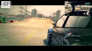 DIRT 3 PC - HD 720p Gameplay GYMKHANA 01 ATTACK - FORD FIESTA DUAL CAMERA