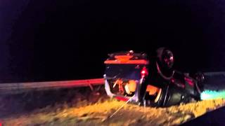 Car Crashes and Flips Over in Upstate NY