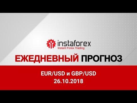 EUR/USD и GBP/USD: прогноз на 26.10.2018 от Максима Магдалинина