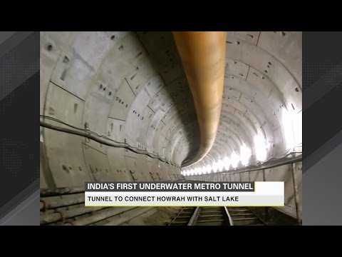 Kolkata metro gets India's first underwater tunnel