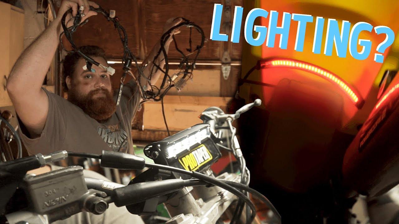 Custom Lighting Kit on my 125 TWO STROKE