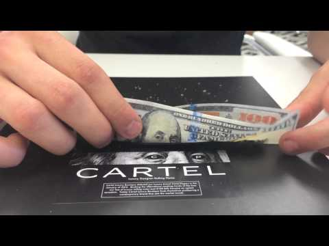 Cartel Papers: How to Roll A $100 Bill Rolling Paper