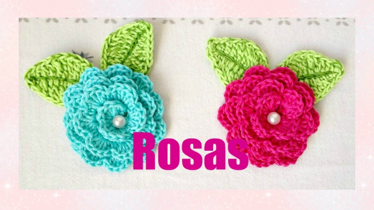 Crochet Videos : Como hacer ROSAS A CROCHET - YouTube