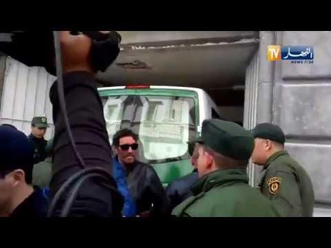 """شاهد..لحظة وصول رجل الأعمال """"يسعد ربراب"""" إلى محكمة سيدي امحمد"""