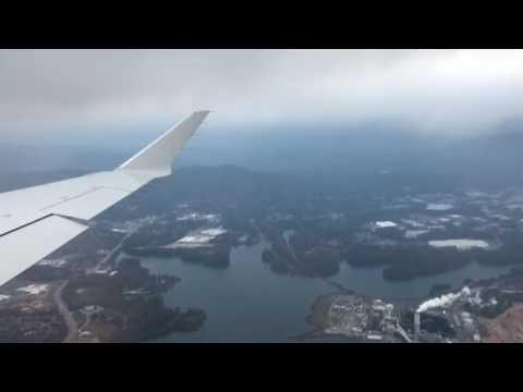 Asheville Regional Airport CRJ-900 takeoff