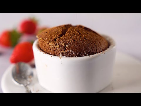 CHOCOLATE SOUFFLÉ - 2 INGREDIENTES Y MUY SALUDABLE