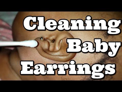 Cleaning Baby Earrings